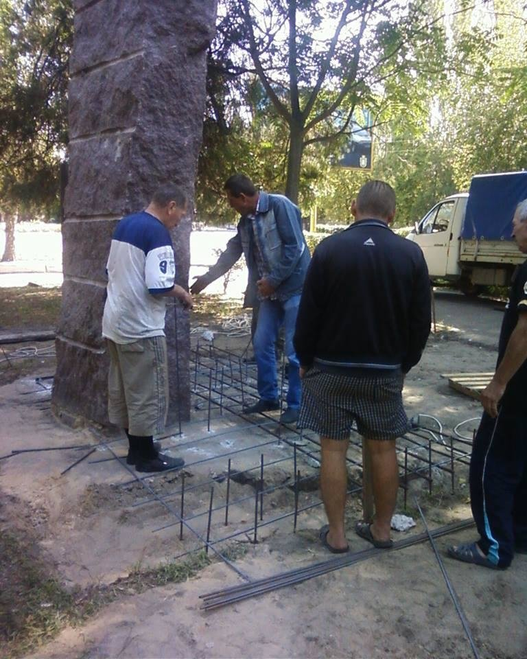 На Херсонщине установили памятник воинам АТО, фото-1