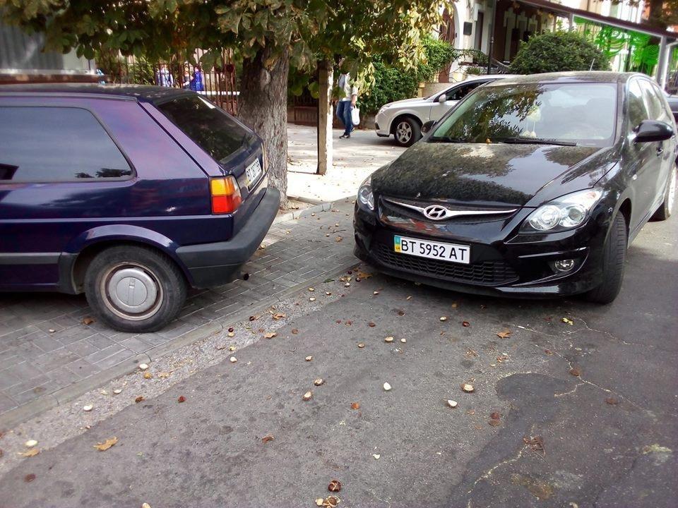 Херсонский водитель заблокировал выезд из парковки, фото-1