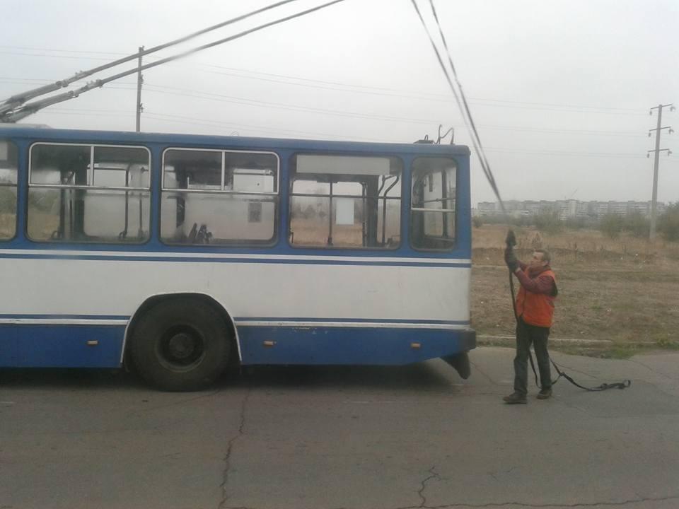 Водитель херсонского троллейбуса №473 отказался везти людей, выгнал всех из салона, фото-1