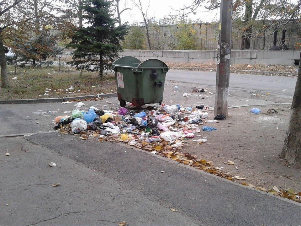Херсонские коммунальщики вывезли мусор, разбросав его по двору, фото-1