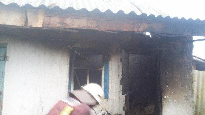 У Новотроїцькому районі рятувальники ліквідували пожежу в літній кухні, фото-1