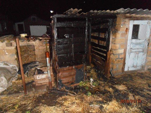 Новотроїцькі вогнеборці загасили палаючий сінник, фото-1