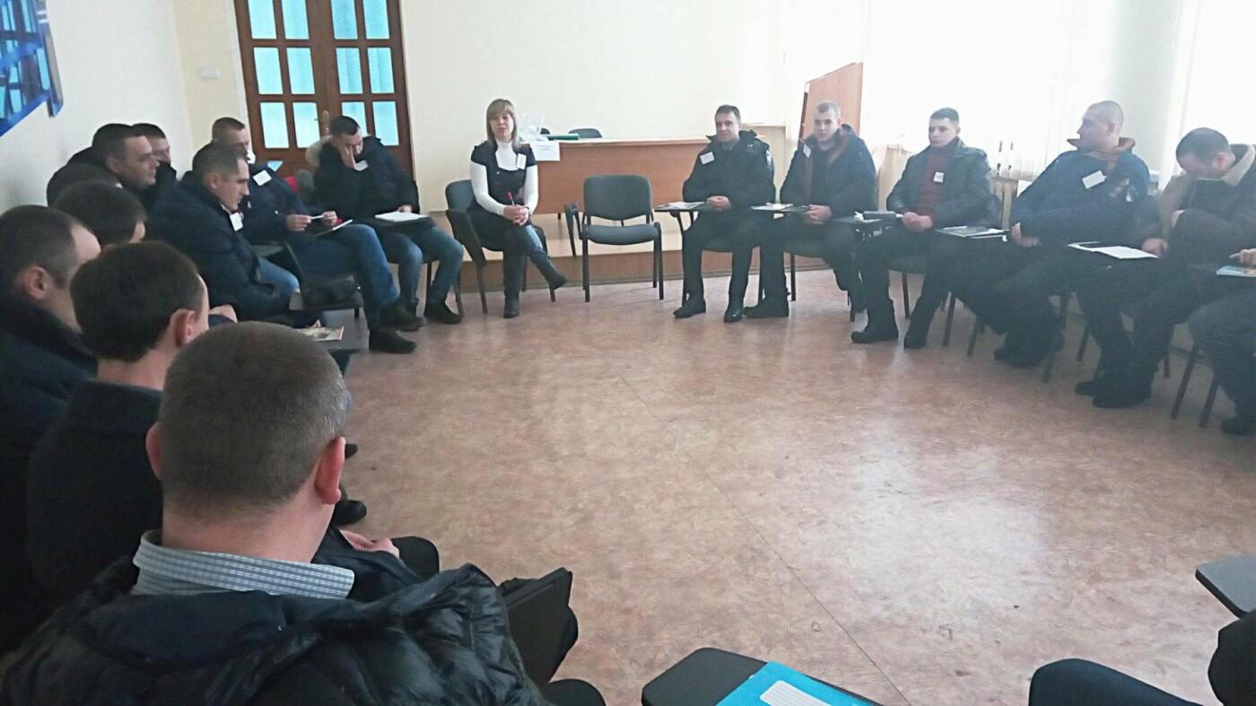 Поліцейські психологи провели заняття для працівників секторів реагування патрульної поліції районних підрозділів поліції, фото-1