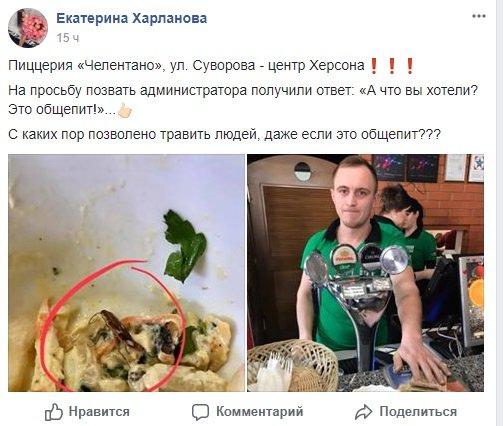 Херсонский общепит предлагает салат с тараканами, фото-1
