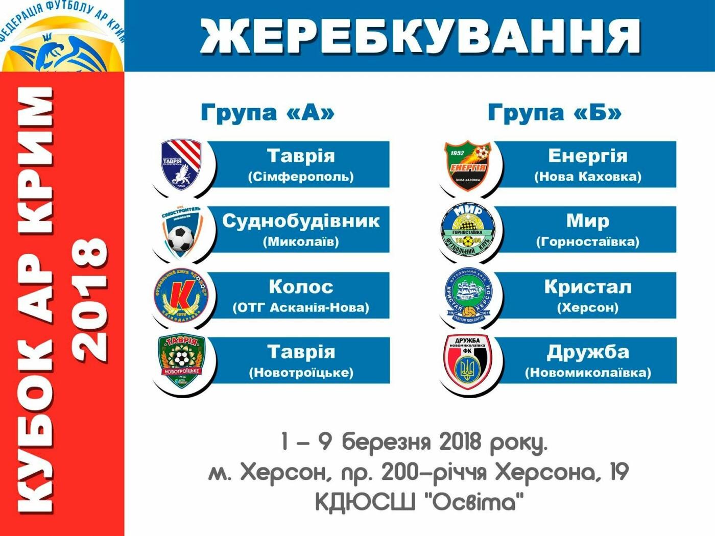 В Херсоне состоялась жеребьевка Кубка АР Крым по футболу, фото-1