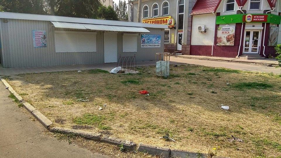 Без урн в Скадовске с мусором не справляются даже дворники