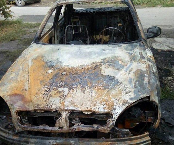 В Херсоне спалили автомобиль члену политической партии (фото), фото-1