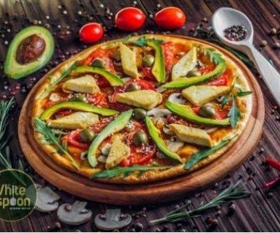 Вкусная вегетарианская пицца с доставкой на дом от компании White Spoon, фото-1